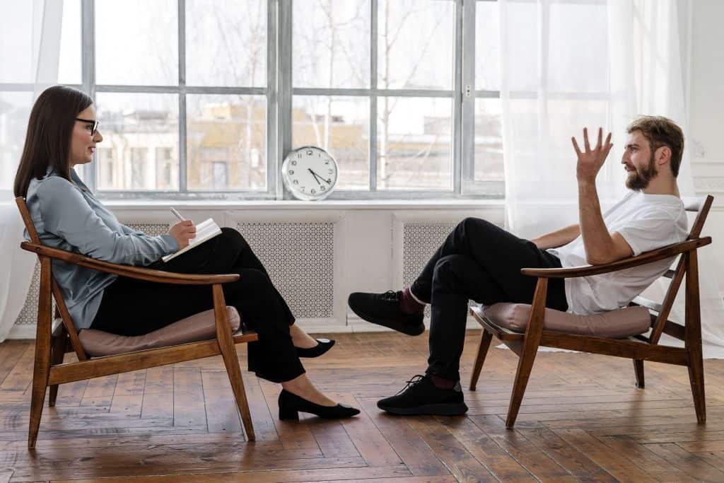 Rozmowa podczas mentoringu