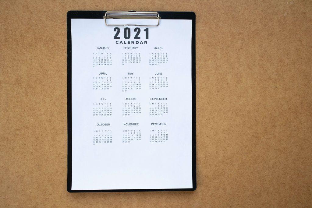 Kalendarz na nadchodzący rok