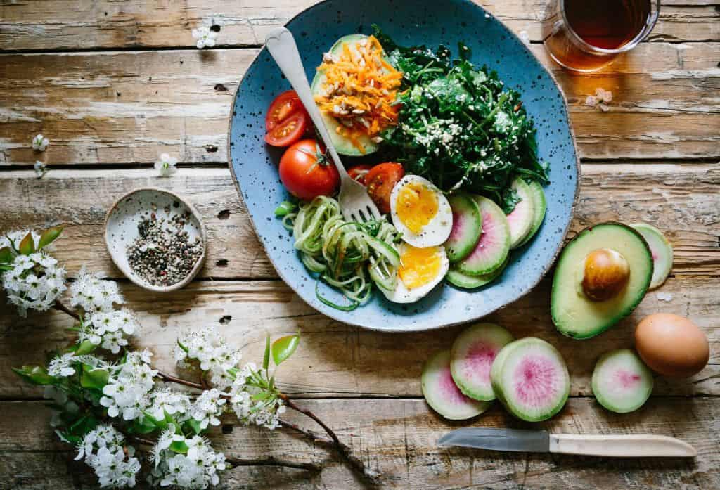 Zdrowy kolorowy posiłek