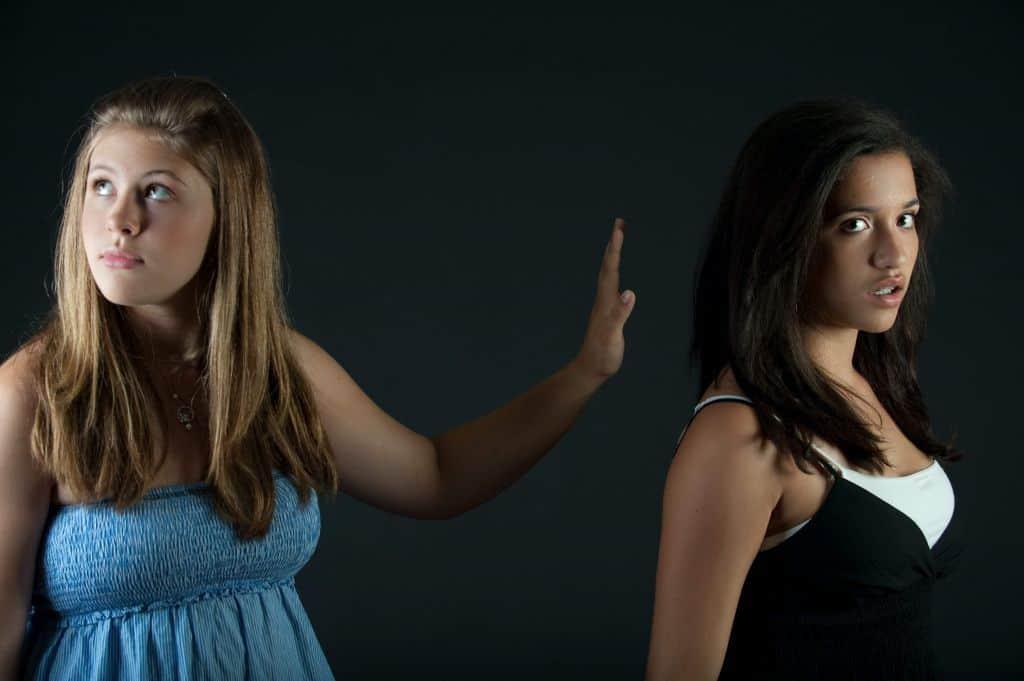 Kłótnia dwóch kobiet