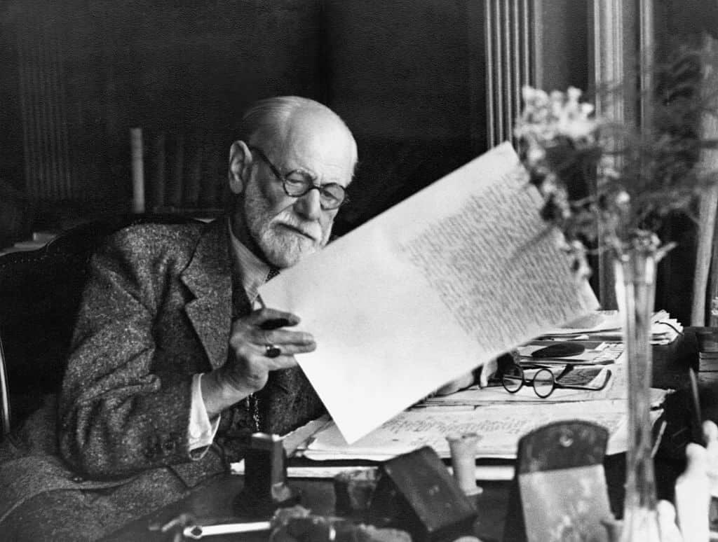 Czarno-biała fotografia Freuda
